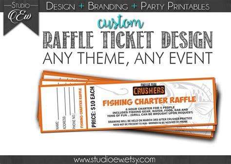 Custom Raffle Ticket Design (any Event Any Theme