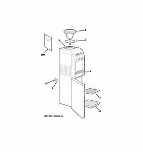 Ge Water Dispenser Hot  U0026 Cold Water Dispense     Parts