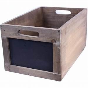 Caisse En Bois : caisse bois ardoise ~ Nature-et-papiers.com Idées de Décoration