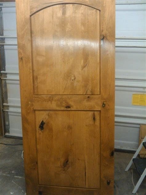 hand  knotty alder entry door  wood  ii