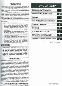 2006 Suzuki Drz400s Service Manual