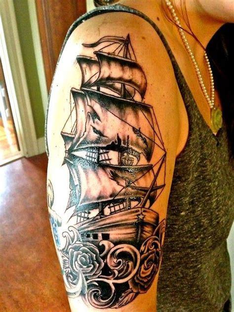 Ship Tattoo by 100 Cool Nautical Tattoo Ideas For Sea Lovers