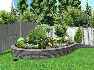 Landscape low maintenance ideas for front of house sloped for Landscape ideas for small backyard with small shed