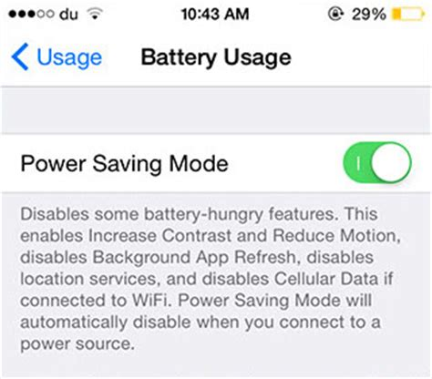 power saver mode new jailbreak tweak aims to extend your