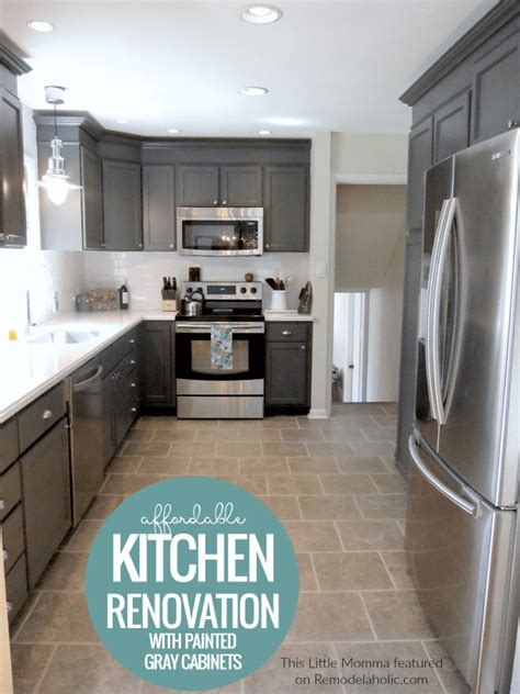 charcoal grey painted kitchen cabinets remodelaholic charcoal grey kitchen cabinets