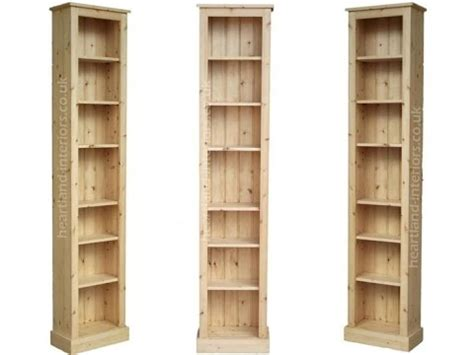 Narrow Open Bookshelf by Narrow Bookcase Solid Wood
