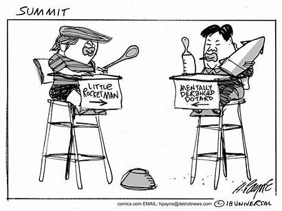 Trump Cartoon Summit March Political Kim Sumter