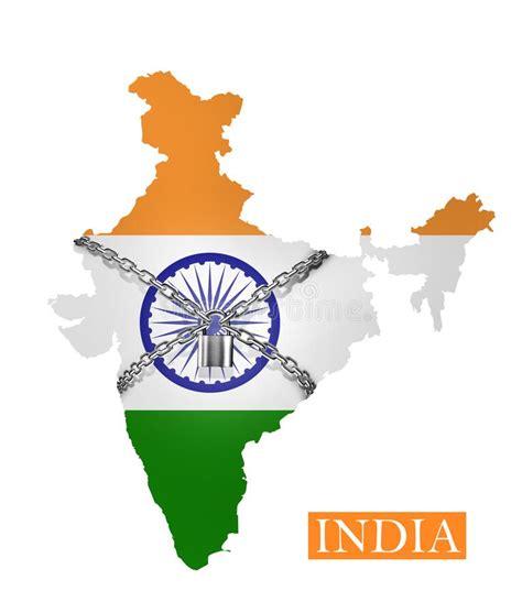 India Shutdown Chain And Padlock Lock Down, With India ...