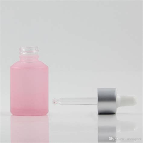 100pcs 30ml dropper bottle drop volume , glass dropper bottles 30ml , 1 50pcs za213 frost 15 ml airless bottle for cosmetic , pp 15m airless pump bottle , plastic round 15ml these dropper bottles are new mould by machine, it is thicked style. Pink Frosted 30ml Empty Glass Dropper Bottle With High ...