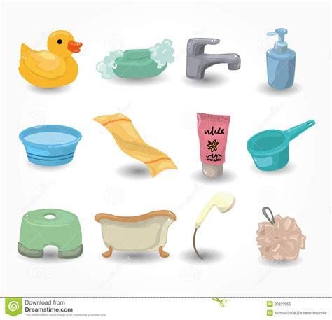 materiel de salle de bain positionnement de graphisme de mat 233 riel de salle de bains de dessin anim 233 photo libre de droits