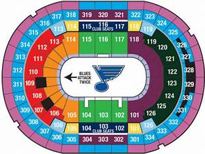 Sabres Stadium Seating Chart Nhl Hockey Arenas Scottrade Center Home Of The St
