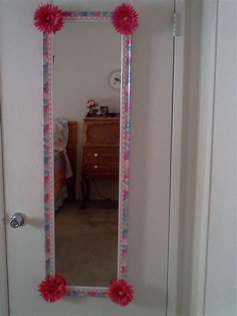 decorative duct tape  decorate  mirror