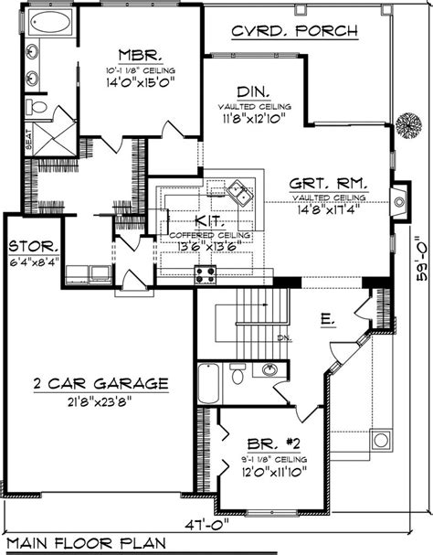 2 floor plans with garage 2 bedroom cottage house plans 2 bedroom house plans with