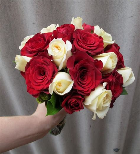 red white rose wedding bouquet sweet floral