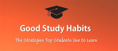 good habits  students  top students learn