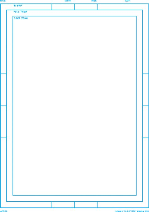 comic page template acosta s build your own mini comic