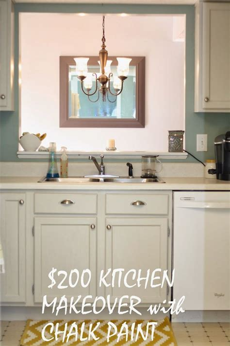 Chalk paint kitchen cabinets with Maison Blanche in silver