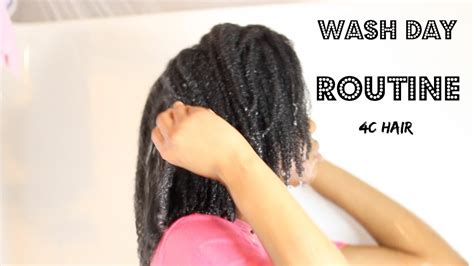 Updated Wash Day Routine  4c Natural Hair Youtube