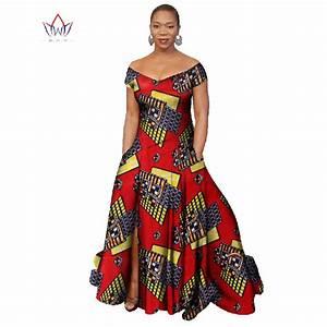 2017 long dress africa bazin riche wax print dresses plus With vêtement africain pour femme