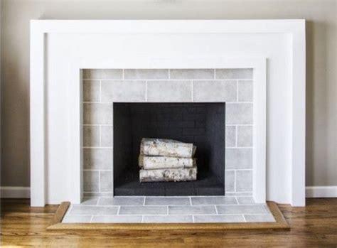 best 25 subway tile fireplace ideas on white