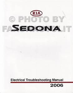 2006 Kia Sedona Repair Shop Manual Set Original