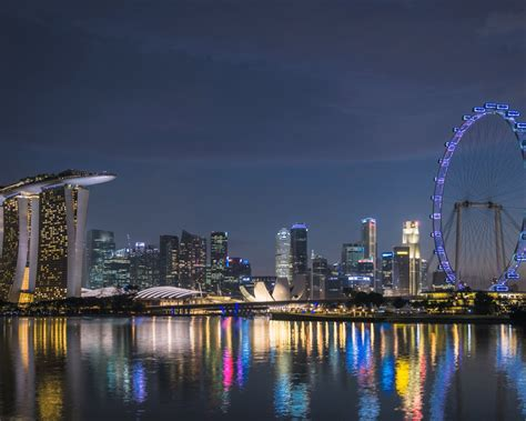 singapore night  bing theme wallpaper preview