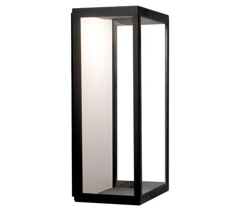 astro puzzle led outdoor flush wall light black finish with clear glass 0931 from easy lighting