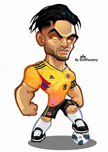 Falcao Football Russia Cartoon Ronaldo Cup Sosfactory