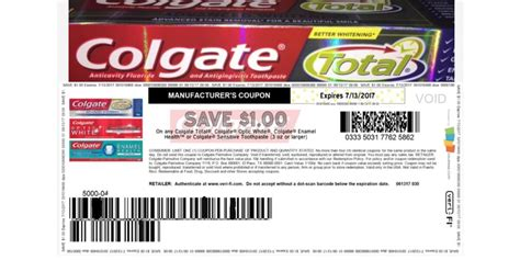 coupons of the day print 1 00 colgate coupon living rich with coupons 174