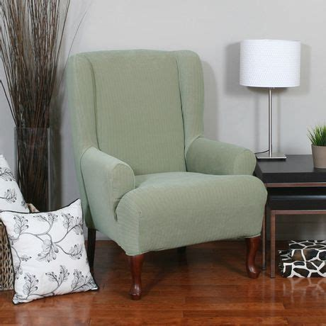 wingback chair slipcovers canada sure fit spencer stretch wing chair slipcover walmart canada
