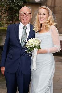 Jerry Hall and Rupert Murdoch celebrate their union with ...