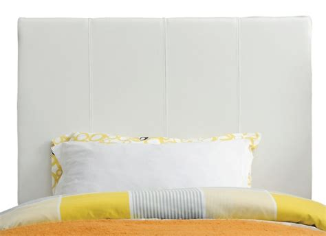 upholstered twin headboard in premier microsuede white