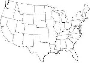 West United States Map Blank