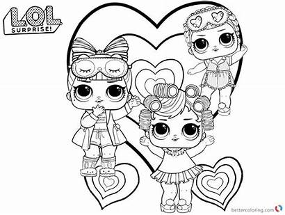 Lol Coloring Printable Pages Dolls Doll Colouring