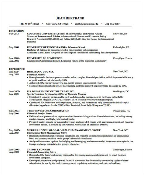 Financial Accounting Resume by 31 Free Accountant Resumes