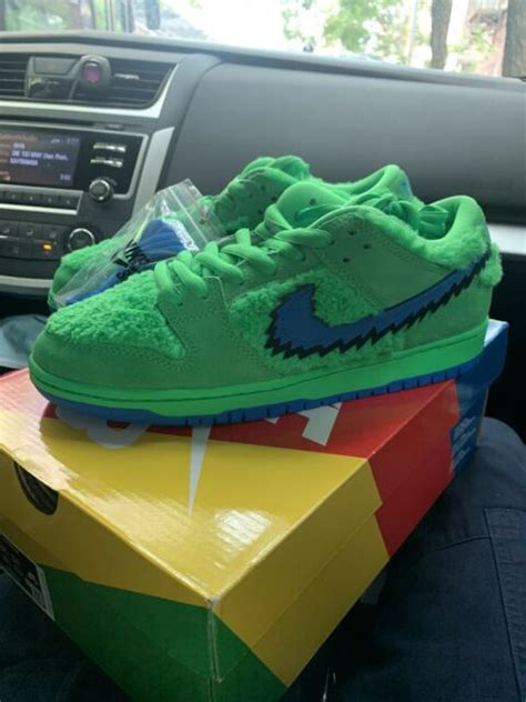 nike sb dunk pro qs grateful dead bears green ebay