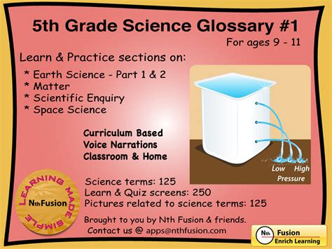5th Grade Science Glossary #1 Ipad App  Learn And Practice Worksheets For Home Use And In