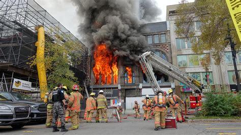 incendie majeur dans un bâtiment patrimonial du quartier un bâtiment patrimonial du quartier chinois de montréal