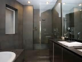 Gray Slate Tile Bathroom