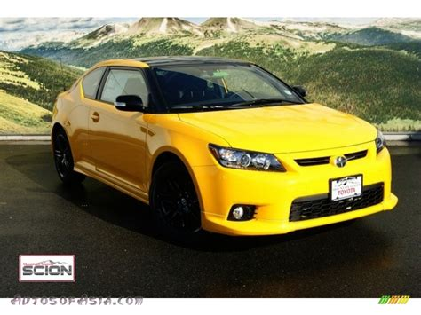 scion yellow 2012 scion tc release series 7 0 in high voltage yellow