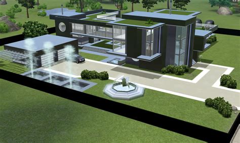 floor plans for narrow lots sims 3 modern black futuristic villa by ramborocky on