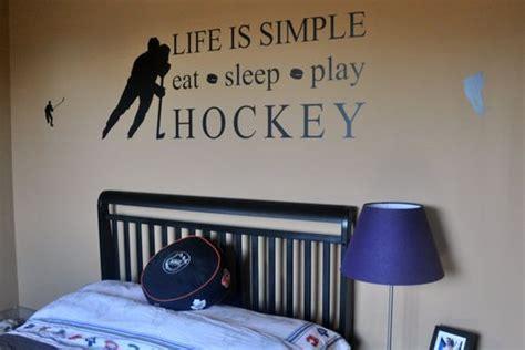 Life Is Simple, Eat Sleep Play Hockey Wall Decal Sticker