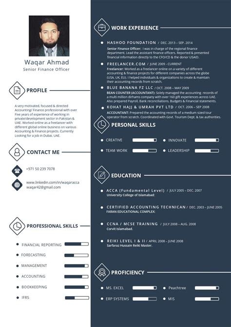 issuu waqar ahmad info graphic resume accounting finance