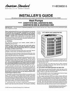 Installer S Guide Heat Pumps 2a6h1018