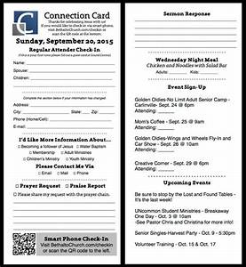 Free church publication templates for Church welcome card template