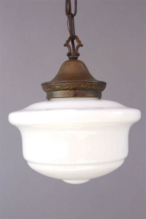 1920s milk glass pendant light fixture for sale at 1stdibs