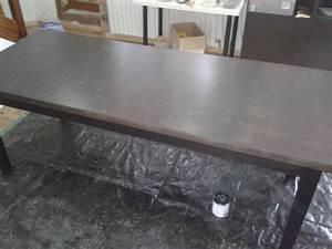 peindre une table salle a manger 10 messages With peinture pour table en bois