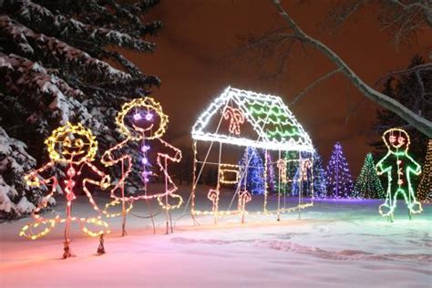 christmas lights in confederation park picture of