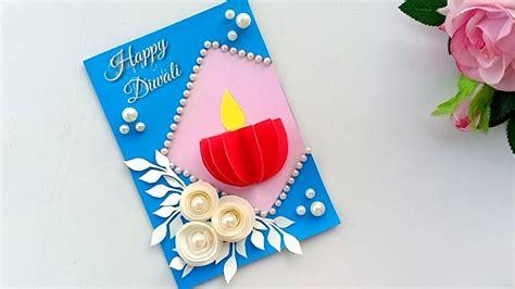 handmade diwali card diwali card making ideadiwali card