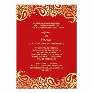 elegant paisley indian style wedding invitation With wedding invitation wording south indian style